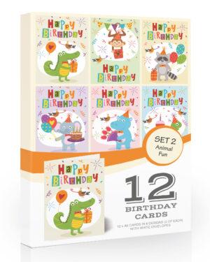 Olivia Samuel Fun Animal Kids Birthday Cards Pack