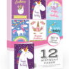 Unicorn Birthday Cards Pack Mixed SCP0220