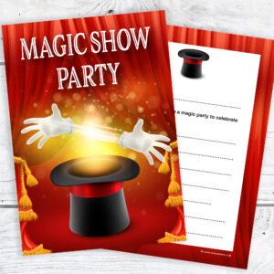 Magic Show Party Invitations