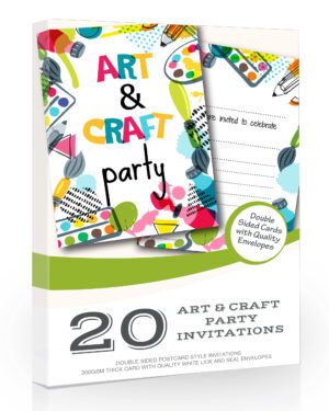 Art and Craft Party Invitations Pack 20