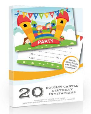 Bouncy Castle Birthday Party Invitations 20
