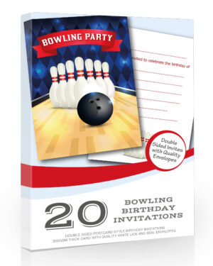 Bowling Party Invitations Pack 20