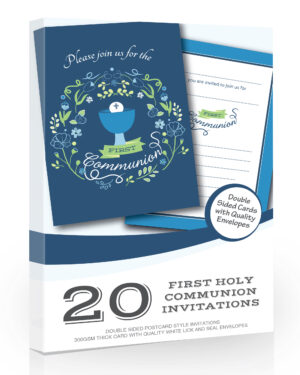 Boys First Holy Communion Invitations 20 Pack