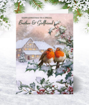 Brother & Girlfriend Christmas Cards