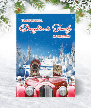 Daughter & Family Christmas Cards