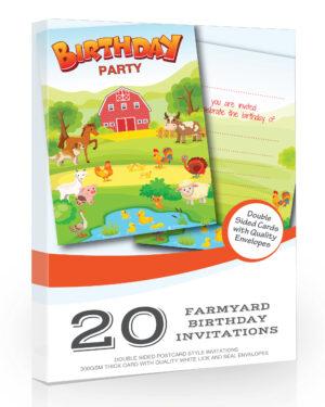 Farm Birthday Party Invitations Barnyard Pack