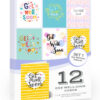 12 x Get Well Soon Cards by Olivia Samuel - Folding Style Multi Pack with Envelopes