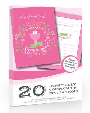 Girls First Holy Communion Invitations