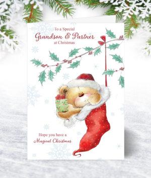 Grandson & Partner Christmas Cards