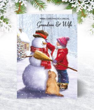 Grandson & Wife Christmas Cards