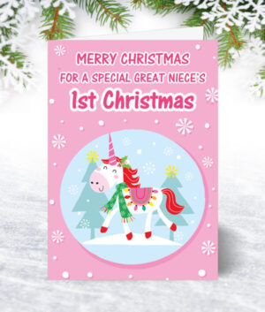 Great Niece 1st Christmas Cards