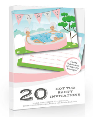 Hot Tub Party Invitations Girls Pack 20