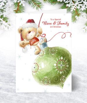 Niece & Family Christmas Cards