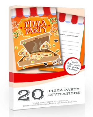 Pizza Party Invitations Pack 20