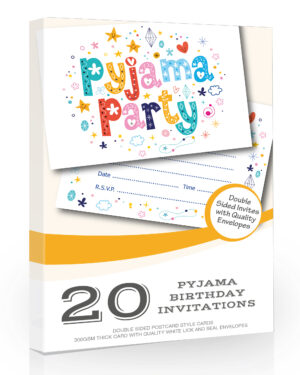 Pyjama Party Invitations Pack 20