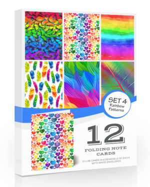 12 x Rainbow Notecards with Envelopes. Blank Inside for All Occasions…