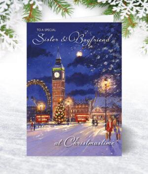 Sister & Boyfriend Christmas Cards