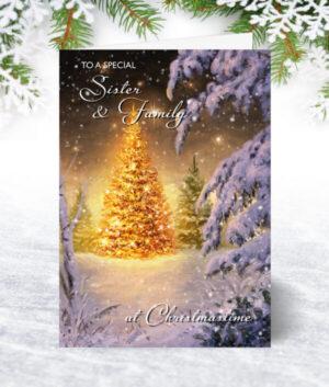 Sister & Family Christmas Cards