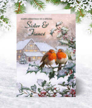 Sister & Fiancé Christmas Cards