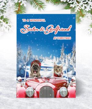 Sister & Girlfriend Christmas Cards