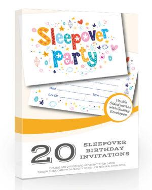 Sleepover Birthday Party Invitations Pack 20