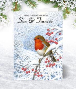 Son & Fiancée Christmas Cards