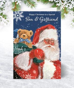 Son & Girlfriend Christmas Cards