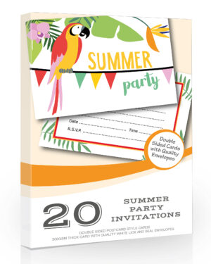 Summer Party Invitations Pack 20