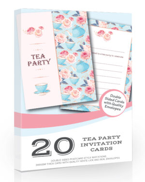 Tea Party Invitations Pack 20