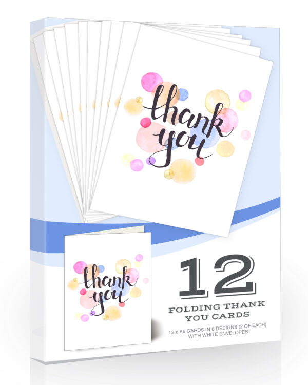 Watercolour Thank-You-Cards-and-Envelopes by Olivia Samuel